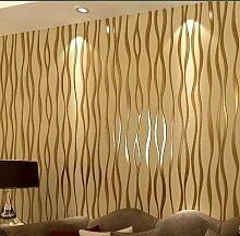 LXPAGTZ Einfache schlichte Streifen Tapete warme Wohnzimmer moderne 3D Vlies Tapete lange 9.5 m * breite TV Hintergrund Schlafzimmerwand 0,53 m (5 m ²) , 18005