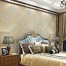 LXPAGTZ Europäische 3D Wohnzimmer Schlafzimmer TV Hintergrund Wand Tapete Klebstoff verklebt Tuch spezielle warme geprägte Tapete lange 9.5 m * Breite 0,53 m (5 m ²)