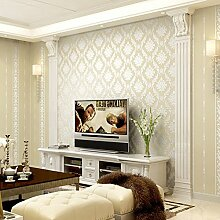 LXPAGTZ Europäische Damast-Tapete warm Vliesstoff Wohnzimmer Schlafzimmer bedside TV Wand 3D Hintergrundbild lange 9.5 m * Breite 0,53 m (5 m ²) , 0806 yellow