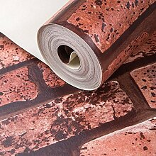 LXPAGTZ Retro 3D Backstein Muster Tapete antike Ziegel Ziegel Ziegel Ziegel grau Backstein Tapete moderne neue Chinarestaurant lange 9.5 m * Breite 0,53 m (5 m ²) , pure wallpaper