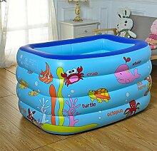 LXQGR Aufblasbares Schwimmbecken, Family Pool Schwimmbad Swimming Pool mit Flicken-Reparaturkit, Umweltfreundliches PVC und BPA-Freie Konstruktion,130*85*70Cm