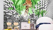 Lxsart 3D-Tapete mit 3D-Giraffe, für