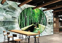 Lxsart Benutzerdefinierte Tapete Wandbild Bambus