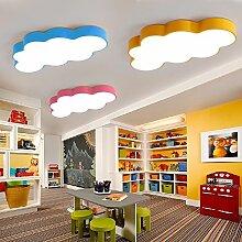 LXSEHN Europäische Kreative Kinderzimmer Wolke LED Deckenleuchte Jungen Mädchen Schlafzimmer Kindergarten Spielplatz Lichter ( farbe : Gray-L60*W40*8cm 36W )