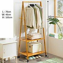 LXSnail Einfache Garderobe, stehende Massivholz
