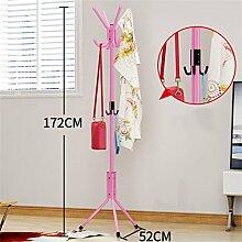 LXSnail Mantel Racks Schlafzimmer Kleiderbügel Boden Mode kreative Kleidung Regale Eisen Anti-Rost (rosa / 172cm) Kleiderständer