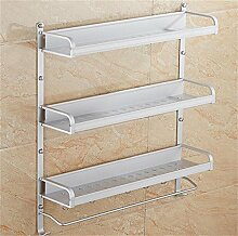 LXSnail Raum Aluminium Bad Racks / Schraub-Racks / Bad Regal Küche Multifunktions ( farbe : 4* )