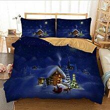 lxwrnv Weihnachtsbettwäscheset (Doppelbett),