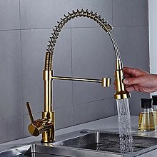 LXX Ausziehbar Küchenarmatur Gold Wasserhahn