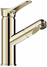 LXX Gold Ausziehbar Bad Wasserhahn