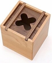 LXY Massivholz-Mehrzweck-Tissue-Box Kreative