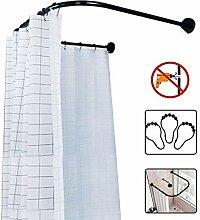 Weiß Duschvorhangschiene Duschvorhang L-Form//U-Form//Winkel übersteigt 15-20kg DE