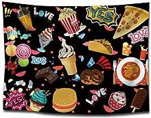 LY-01 Wandteppiche Snacks Eiscreme Tapisserie