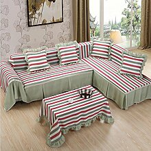 LY&HYL All-Saison Heimtextilien Volle Deckung Dickere pastoral feste Farbe Sofa Handtuch , 215*200