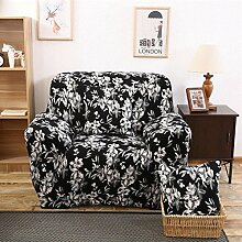LY&HYL All-Saison Möbel Protector Sofa Protector Sofa fest wickeln all-inclusive rutschfeste Sofaabdeckung elastische Sofa Handtuch , 90*140single sea