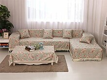 LY&HYL All-Season Vollständige Abdeckung Baumwolle Sofa Covers Baumwolle Slip-resistenten Sofa Slipcover für Zimmer Sofa Handtuch Home Decor , 180*240