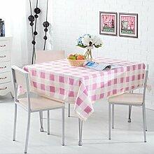 LY&HYL Baumwoll-Nudeln rosa Gitter Verdickung Schreibtisch Wohnzimmer Couchtisch Tuch Staubfeste TV-Schrank Tuch , 110*160cm