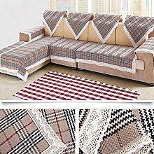 LY&HYL Baumwolle, Leinen, Flachs, Baumwolle Jahreszeiten dick dick Anti-Rutsch-Sofa Deckel Rückenlehne Handtuch Armlehne , 2 , 90*180