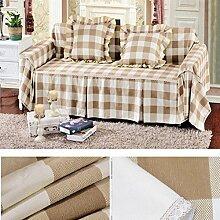 LY&HYL Baumwolle Leinwand dick rutschfest Volldeckung Sofa Möbel Protector Sofa Handtuch , 2 , 210*260Lovesea