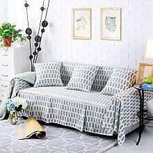 LY&HYL Blaues Baumwollbettwäsche-Sofa umfaßt Baumwollbeleg-beständiges Sofa-Schutzbezug für Raum-Sofa-Tuch-Hauptdekor , 215*300Sofa Cover