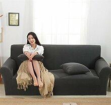 LY&HYL Grau Thicken Elastizität gestrickte Sofa-Abdeckung Tight Wrap All-inclusive Full Coverage1 / 2/3/4 Sitzer Sofa Cover , 190*230Sofa Cover