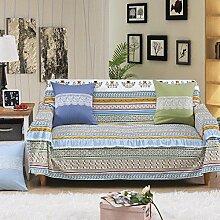 LY&HYL Hauptart und weise kleine frische Baumwolle und Leinenspitze Spitze Sofa-Möbel-Schutz-rutschfeste Sofaabdeckung , 200*260Lovesea