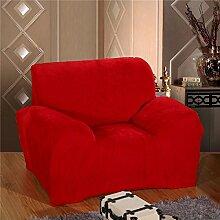 LY&HYL Hauptdekoration universal alle - inklusive Anti - Skid elastisch alle - Tuch Stoff Sofabezug , red , 145*185cm