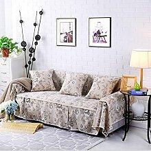 LY&HYL Heimtextilien Baumwolle Leinen Sofa Covers Baumwolle rutschfeste Sofa Slipcover für Zimmer Sofa Handtuch Home Decor , 215*350Sofa Cover