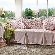 LY&HYL Heimtextilien Rutschfeste Sofaabdeckung Sofa-Kombination Handtuch Single / Two / Three / Vier-Sitz Rosa Plain Couch Cover , 170*260