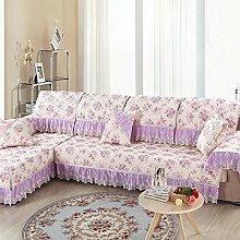 LY&HYL Home Dekoration Leinen-Spitze gesteppte rutschfeste vier Jahreszeiten Sofa-Abdeckung Rückenlehne Handtuch Armlehne , 90*160