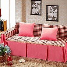 LY&HYL Home Textiles Red Gitter Sofa Möbel Protector Sofa Abdeckung Anti-Rutsch Home Fabric Sofa Slipcover Handtuch , 200*260Lovesea