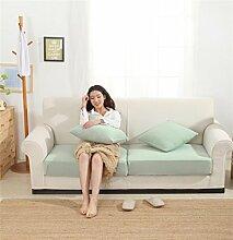 LY&HYL Home Textiles Solid-Color gestrickt gestreifte Süßigkeiten Farbe moderne einfache blaue Sofa Kissen mit elastischen Sofa Abdeckung , 90*150