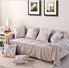 LY&HYL Kaffeefarbe Sofa-Schutz Vollständige Abdeckung Sofabezüge Sofa Schonbezug für Wohnzimmer-Sofa Handtuch Home Decor , 200*200single sea