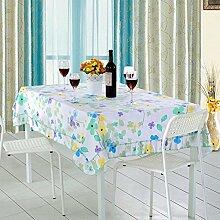 LY&HYL Multifunktionale pastorale Blumendrucke dicke Tischdecken Wohnzimmer Tuch Couchtisch Tuch TV Schrank Tischtücher , 130*130