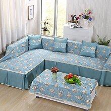 LY&HYL Vier-Jahreszeiten-pastoral universal universal Anti-Rutsch-Sofa-Möbel-Schutz Anti-Blockier-System Sofabezug , 3 , 215*260Lovesea