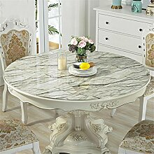 LY-tablecloth Round PVC Tischdecke Soft Glass