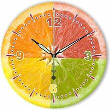 LY-Wanduhr Moderne Home Decoration Küche Wanduhr Uhr Lemon Dekoration Wanduhr mit Wasserdicht Zifferblatt , B , 12 inch