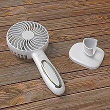 LybCvad Mini Lüfter Tragbarer kreativer Sommer-Hand-USB-Ventilator-Fan-Fan Klein, Weiß