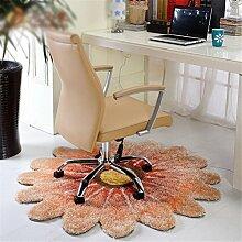 LYD® Runde Teppich Teppiche Für Wohnzimmer Teppich Kinderzimmer Lange Plüsch Teppiche Für Schlafzimmer Shaggy Bereich Teppich 1.2 * 1.2M