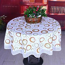 LYD® Tischdecke Wasserdichte große runde Tischdecke Pastoral Home Hotel Plastik Tischdecken PVC Anti-Öl No-clean , A , 200cm