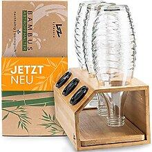 Lyfezero SodaStream Flaschenhalter 3er aus Bambus