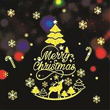 LYFWL Weihnachten Schneeflocke-Fensteraufkleber
