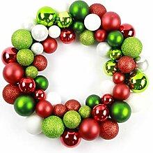 LYFWL Weihnachtskranz Plastikkugel Weihnachtskranz