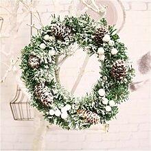 LYFWL Weihnachtsschmuck Türkranz 40Cm Fenster