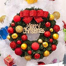 LYFWL Weihnachtsschmuck Wandbehang Weihnachtskranz