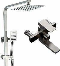 LYHS Duschsystem Thermostat Duschset Regendusche
