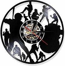 LYHZXC Vinyl-Wanduhr Spielen Baseball Vinyl Record