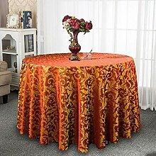 LYIKAI Tischdecken Europäische Runde Tischdecke