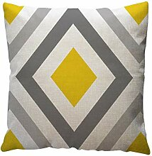 LYIKAI Zierkissenbezüge Gelbe Geometrische Muster