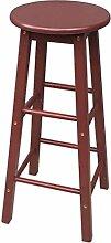 Lying Bar Stuhl, Bar Hocker Hocker Vorderseite Stuhl Ruhige Hocker Massivholz Retro Einfache Bar Western Restaurant Hotel H: 70cm finden ( Farbe : D )